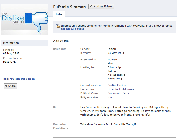 top of eufemia's profile