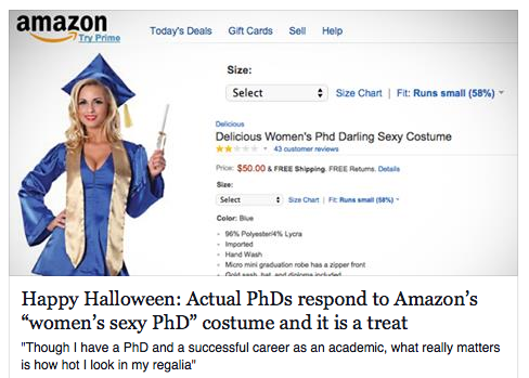 hot phd hallowe'en costume