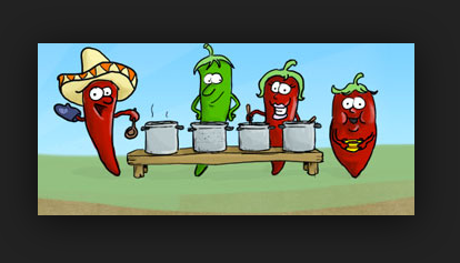 Plymouth State University (NH, USA), chili cook-off. (Click image/link, you'll see why this image appears in a search...)